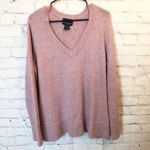 Cynthia Rowley lavender v-neck sweater